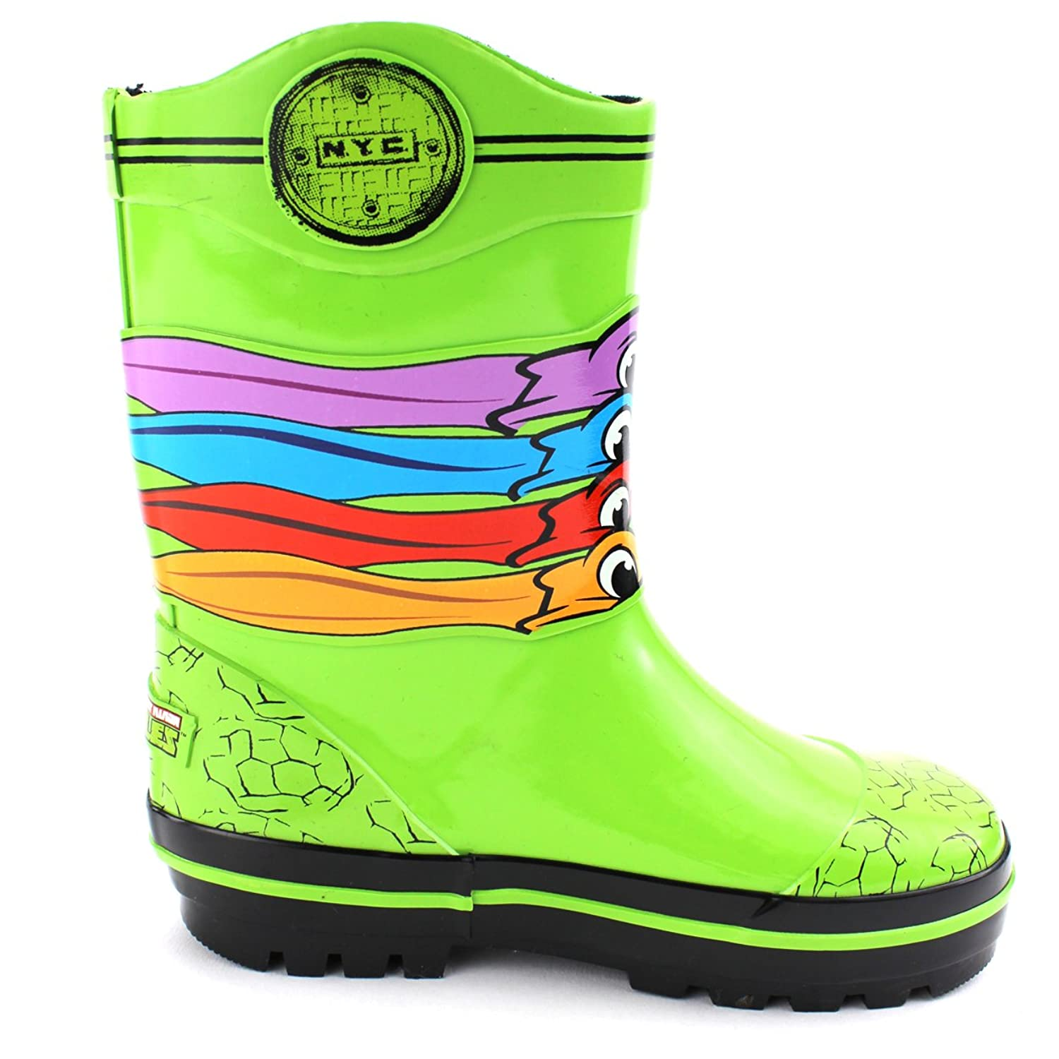 TMNT Ninja Turtles Kids Rain Boots (Green NYC Turtle Masks, 7/8 M US Toddler):  Amazon.ca: Shoes & Handbags