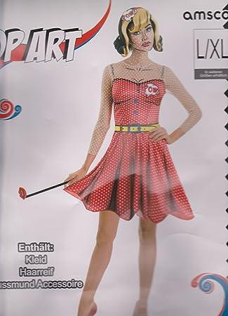 ce3f01c4dac262 Karneval Damen Kostüm/Fasching/Halloween-Parties -Damen-Pop Art (S/M):  Amazon.de: Spielzeug