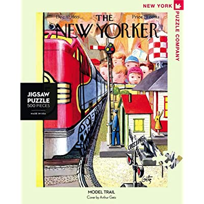 New York Puzzle Company - New Yorker Model Train - 500 Piece Jigsaw Puzzle: Toys & Games