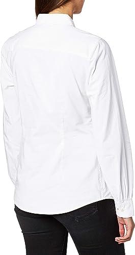 Tommy Hilfiger WW WW0WW27371 - Camisa para mujer, color blanco Ybr White 32: Amazon.es: Ropa y accesorios