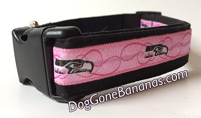76ad3c458 Amazon.com  Pink Seattle Seahawks NFL Dog Collar with Leash Option  Handmade