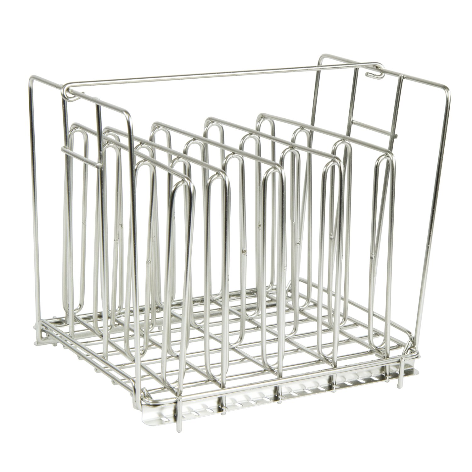 Houseables Sous Vide Rack, Food Holder Weight, 9 x 7 Inch, Stainless Steel, 5 Dividers, Fits 12 Quart Container, Even Heating Accessories, Holding Grid, No Float Top Bar, Adjustable, Collapsible