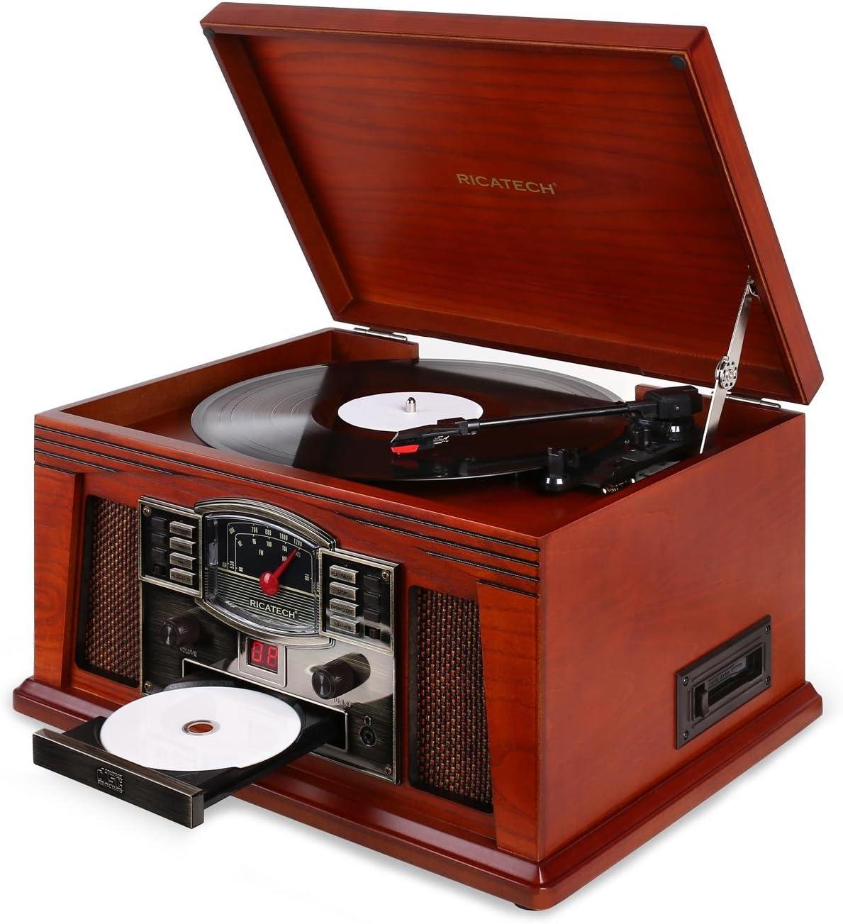 Ricatech RCM200 Tocadiscos estéreo CD Cassette FM: Amazon.es ...