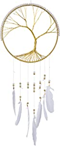 Now Is Now Gold Tree of Life Wall Art Tree of Life Dream Catcher Contemporary Steel Artwork Home Wall Decor Celtic Family Tree 10 x 24 inches (25.4 x 61 cms)