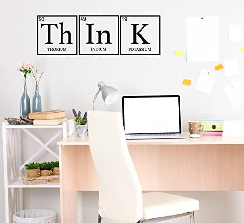 Amazon Com Wall Decor For Teens Think Periodic Table Decoration Removable Vinyl Decal For Children Bedroom Playroom Or Study Area Handmade