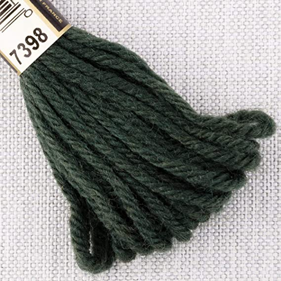 Colour 7398 DARK AVOCADO GREEN 8m SKEIN DMC Tapestry Wool