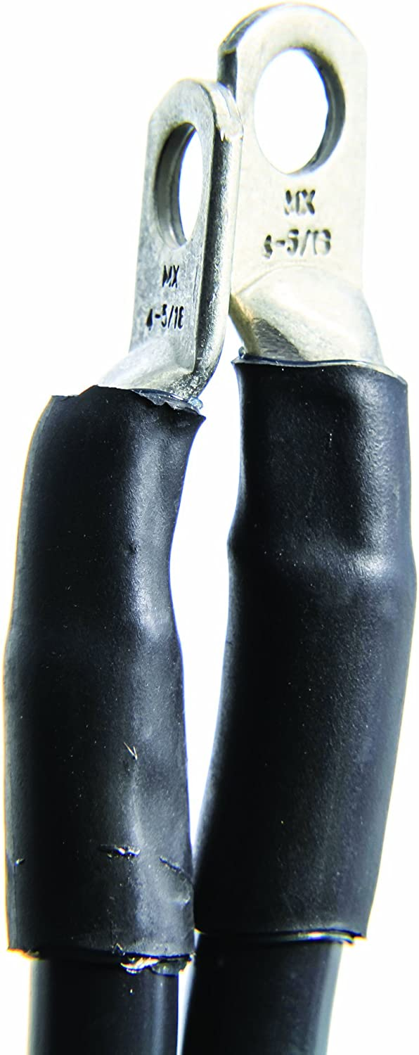 Camco 47447 Black 5//16 Stud 96 Long 4-Gauge Marine Battery Cable and Lug Assembly Tinned