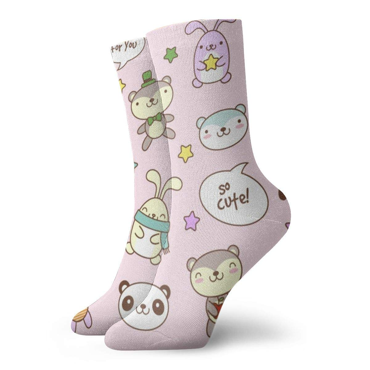 Teddy-bear-bunny Unisex Funny Casual Crew Socks Athletic Socks For Boys Girls Kids Teenagers