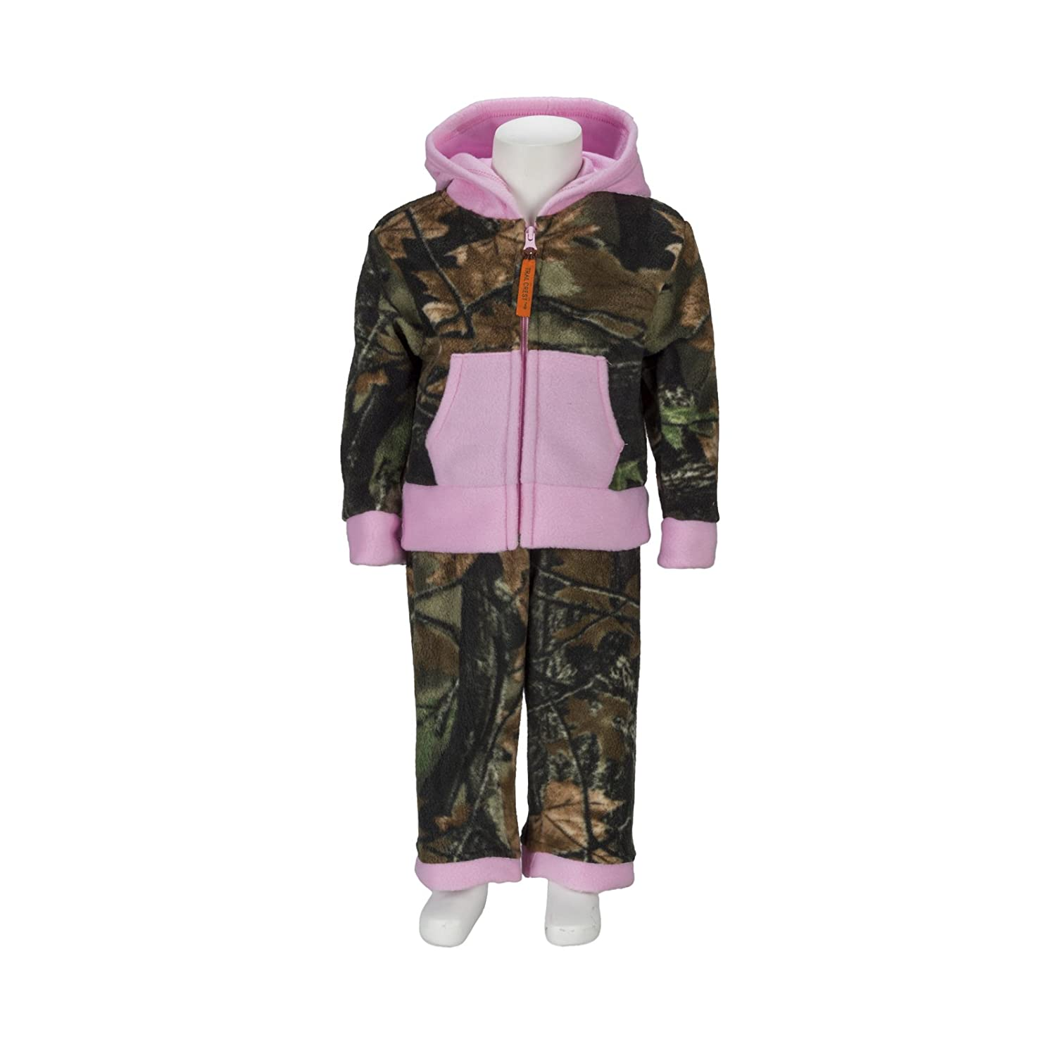 Trailcrest Toddler Two-Piece Pink and Camouflage Jacket and Pants Fleece Set 9925-05-5T