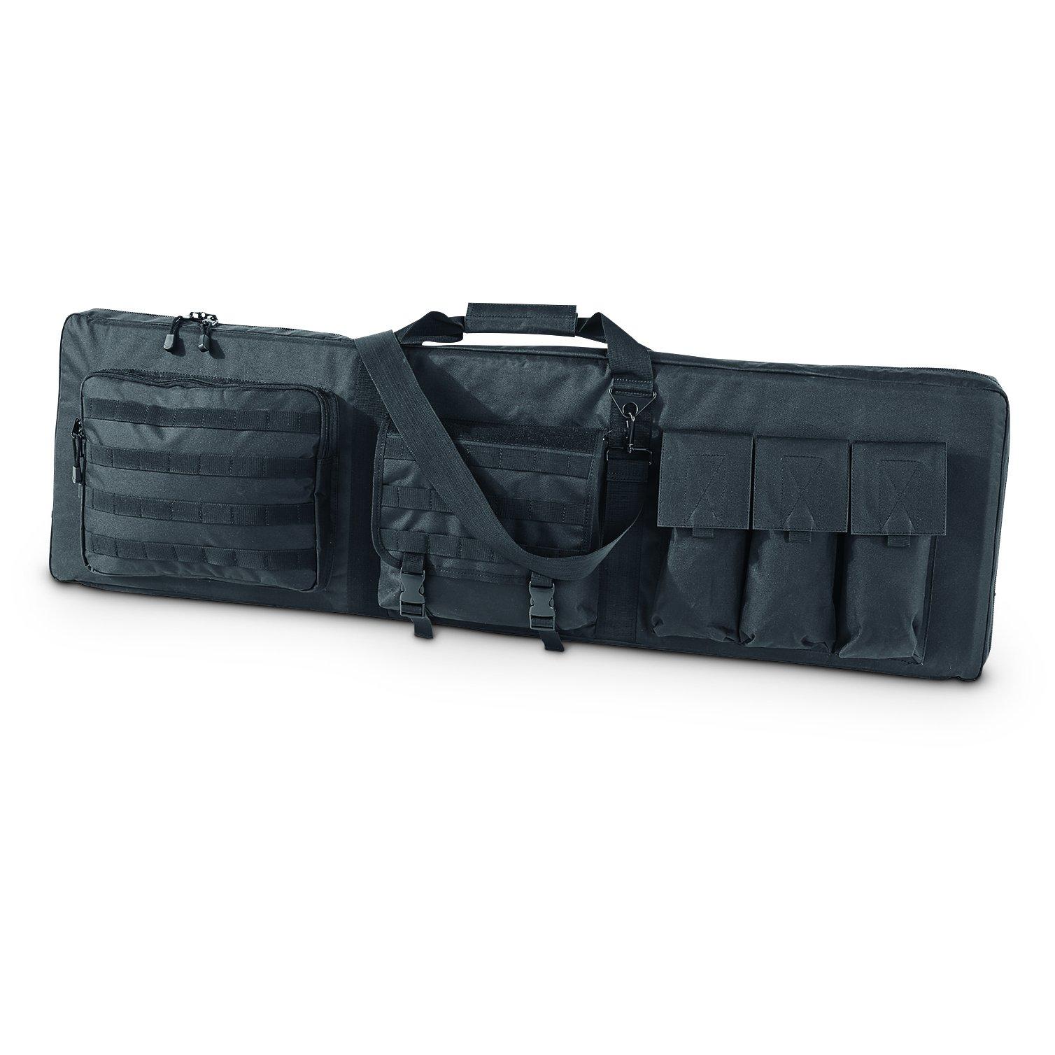 Rifle Case Holds 3 Rifles 2 Handguns & 6 Magazines, 52''