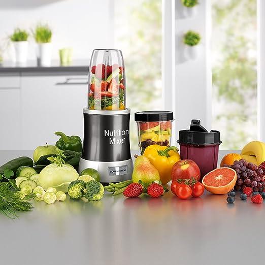 Gourmet Maxx 04201 Nutrition Licuadora Deluxe 11 piezas (1000 W extra power, 22.000 Rpm, to go de tapa, 7 funciones): Amazon.es: Hogar