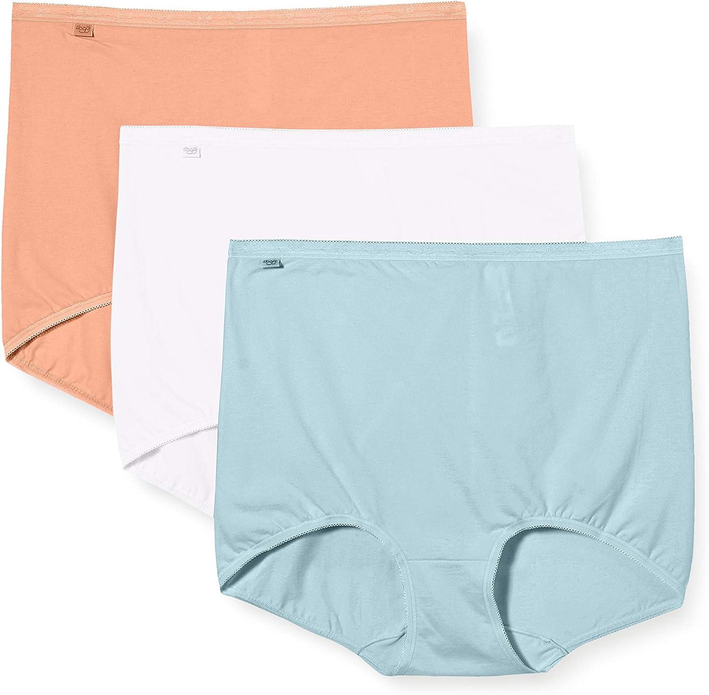 Sloggi Womens Basics 3 x Maxi Brief White Size UK 20 NH098 ii 05