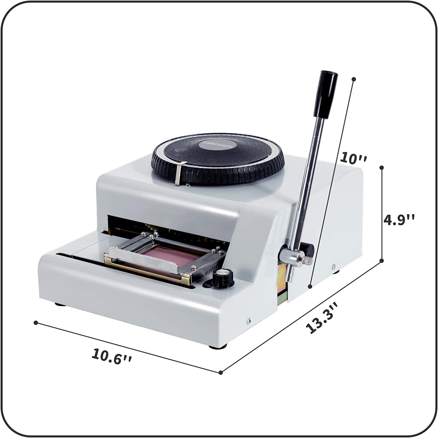 Embossing Machine 66 Characters Card Embosser Printer Gift Card Credit ID PVC Card Embosser Stamping Machine Manual Embosser Machine