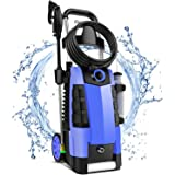 TEANDE 3800PSI Electric Pressure Washer, 3800PSI High Pressure Washer for Cars Fences Patios Garden Cleaning, 2.8GPM 1800W Po