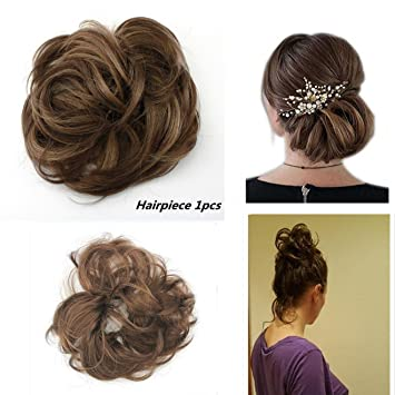 Amazon Merrylight Donut Messy Bun Chignon Synthetic Hair Wrap