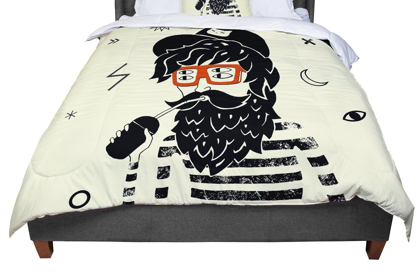 68 X 88 KESS InHouse Anya Volk Dreamer Yellow People Twin Comforter