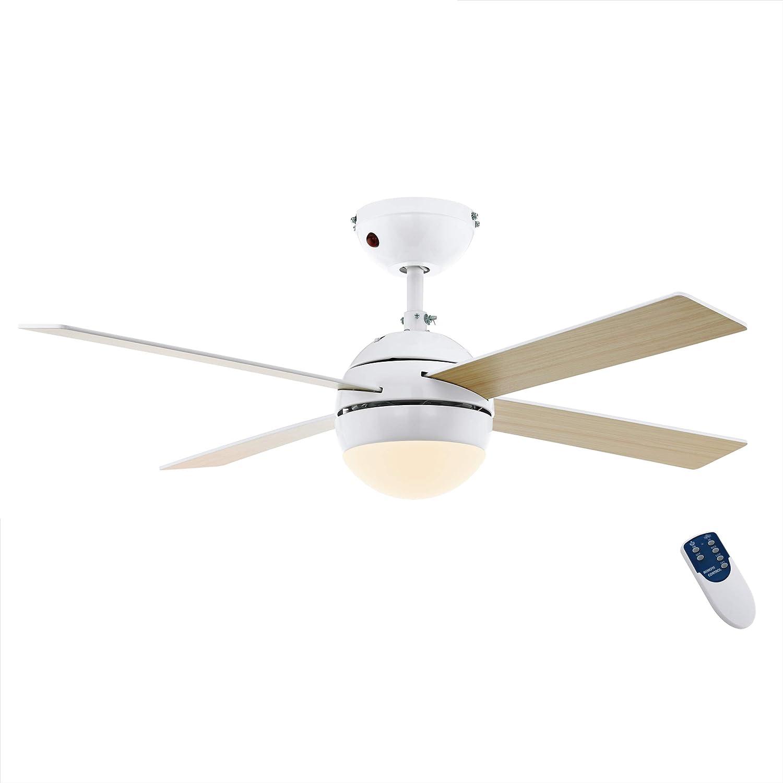 EGLO LOSCIALE Ventilador de techo, Blanco, 106.6
