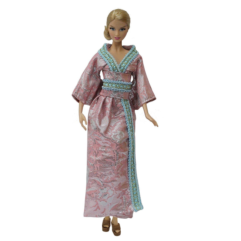 Amazon.es: ZITA ELEMENT 3 Sets Hecha a Mano Vestido de Estilo Japonés para 11.5 Pulgadas / 30cm Muñeca Barbie Articulada: Juguetes y juegos