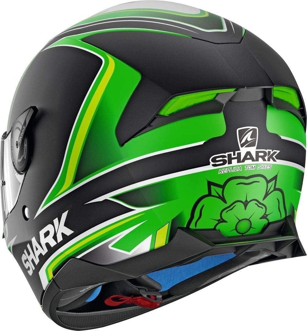 Noir//Orange Motorcycle helmets Shark SKWAL 2 SYKES MAT KWO M