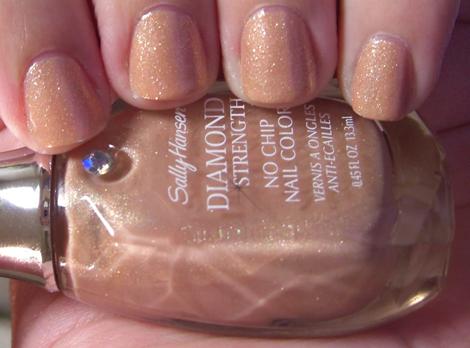 Amazon.com : Sally Hansen Diamond Strength No Chip Nail Polish 3K or ...