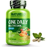 NATURELO One Daily Multivitamin for Men - with Whole Food Vitamins, Organic Extracts - Natural Supplement - Best for Energy, General Health - Non - GMO 60 capsules