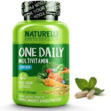 Best Multivitamin For Men >> Naturelo One Daily Multivitamin For Men With Whole Food Vitamins Organic Extracts Natural Supplement Best For Energy General Health Non Gmo