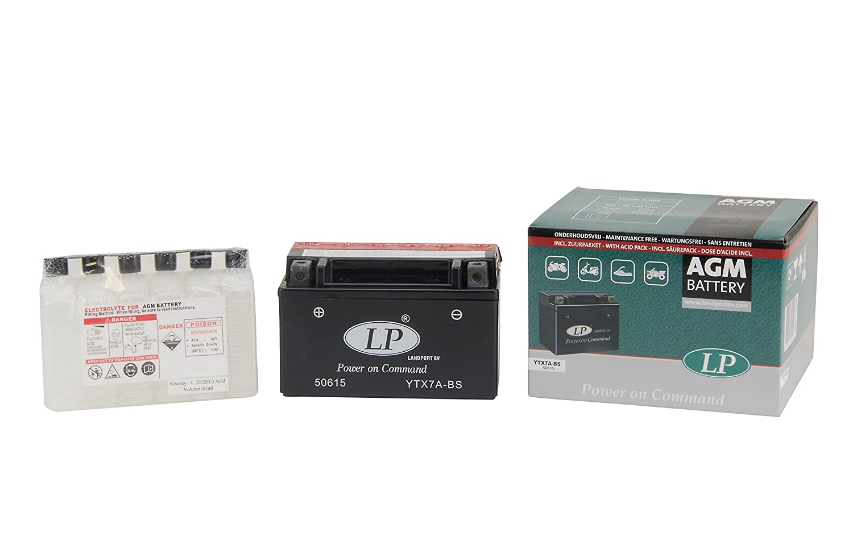 Landport MB YTX7A-BS Motorcycle Battery Schwarz Preis inkl. EUR 7,50 Pfand