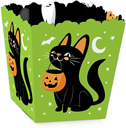 Big Dot of Happiness Jack-O'-Lantern Halloween - Party Mini Favor Boxes - Kids Halloween Party Treat Candy Boxes - Set of 12