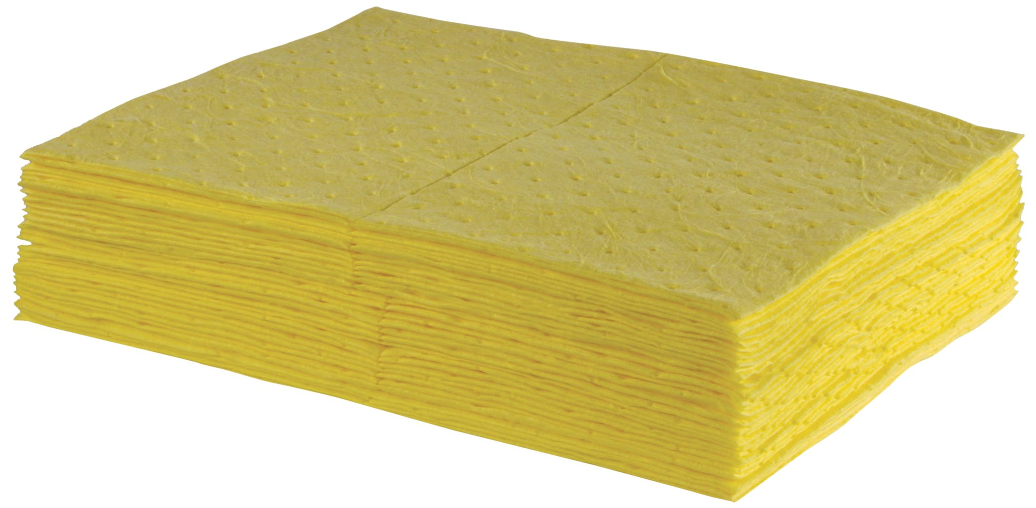 ESP 2MBYPB Polypropylene Medium Weight Meltblown Absorbent Sonic Bonded HazMat Pad, 20 Gallons Oil and 13 Gallons Water Absorbency, 18'' Length X 15'' Width, Yellow (100 per Bale) by ESP (Image #1)