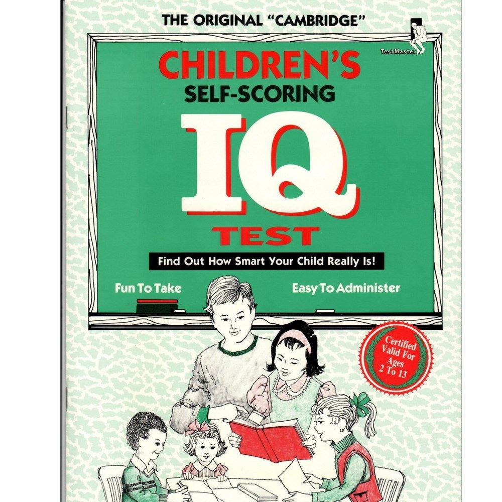 Children Self Scoring I Q  Test: Dan Pape: 9781882330140