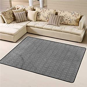 Printed Area Rug Abstract Soft Indoor Mat Decorative Carpet Monochrome Arrangement 4' x 6' Rectangle