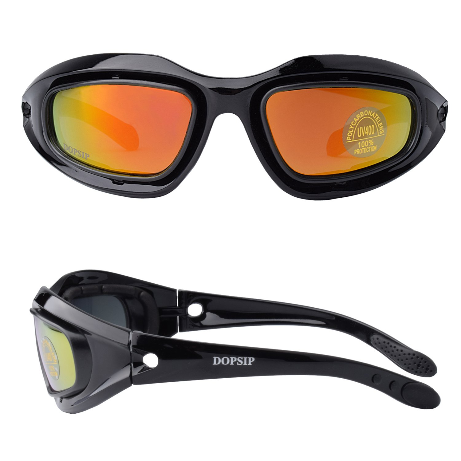 Tactical Glasses,DOPSIP Cycling Glases Protective Military Goggle with 4 Replaceable Lenses (Black) by DOPSIP (Image #2)