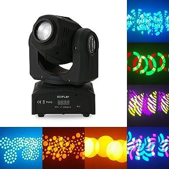 Lixada Lampe à LED pour Scène 30W DMX512 Maître-Esclave Contrôle du Son  Rotation Automatique ac49c2816786