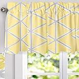 DriftAway Raymond Geometric Triangle Trellis Pattern Lined Thermal Insulated Energy Saving Window Curtain Valance for…