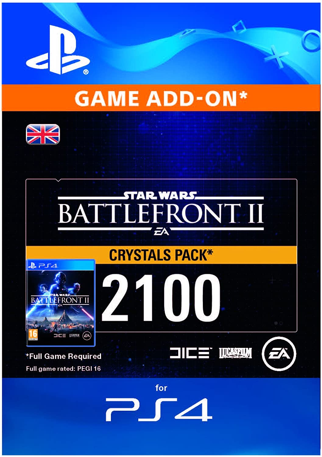Star Wars Battlefront II - 2100 Crystals DLC | PS4 Download