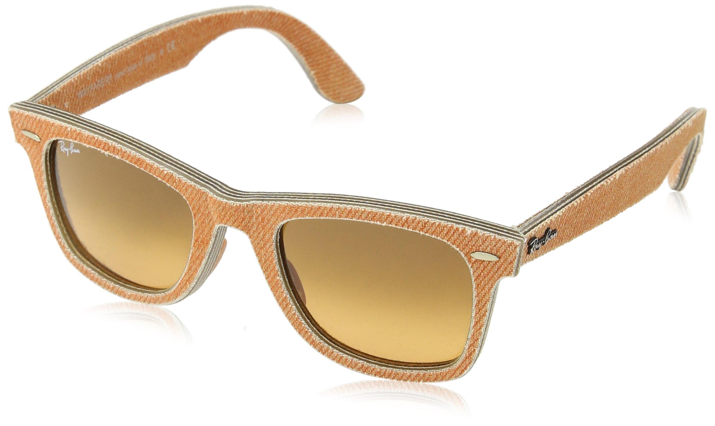 Ray-Ban Unisex ORB2140 Wayfarer Jeans Orange Sunglasses