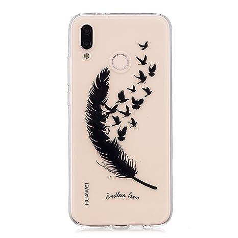 HopMore Funda Huawei P20 lite Silicona Transparente Motivo Bonita Gracioso TPU Gel One Piece Carcasa Huawei P20 lite Ultrafina Resistente Slim Case ...