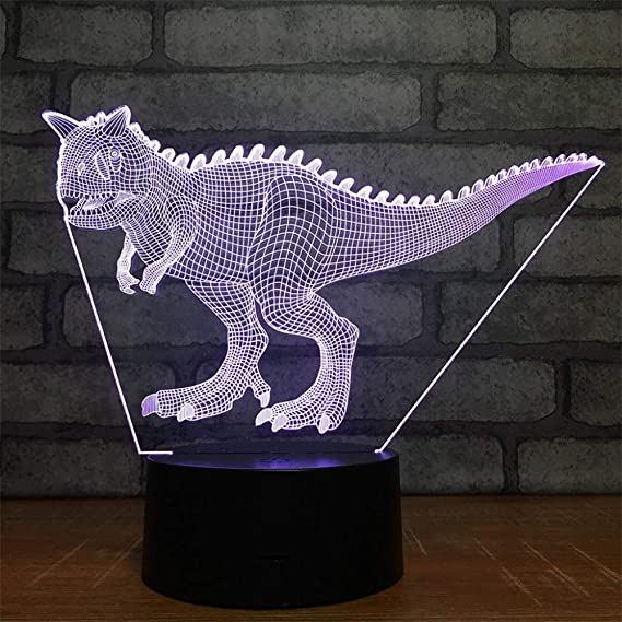BFMBCHDJ Cryolophosaurus Teratosaurus 3D LED Night Lights ...
