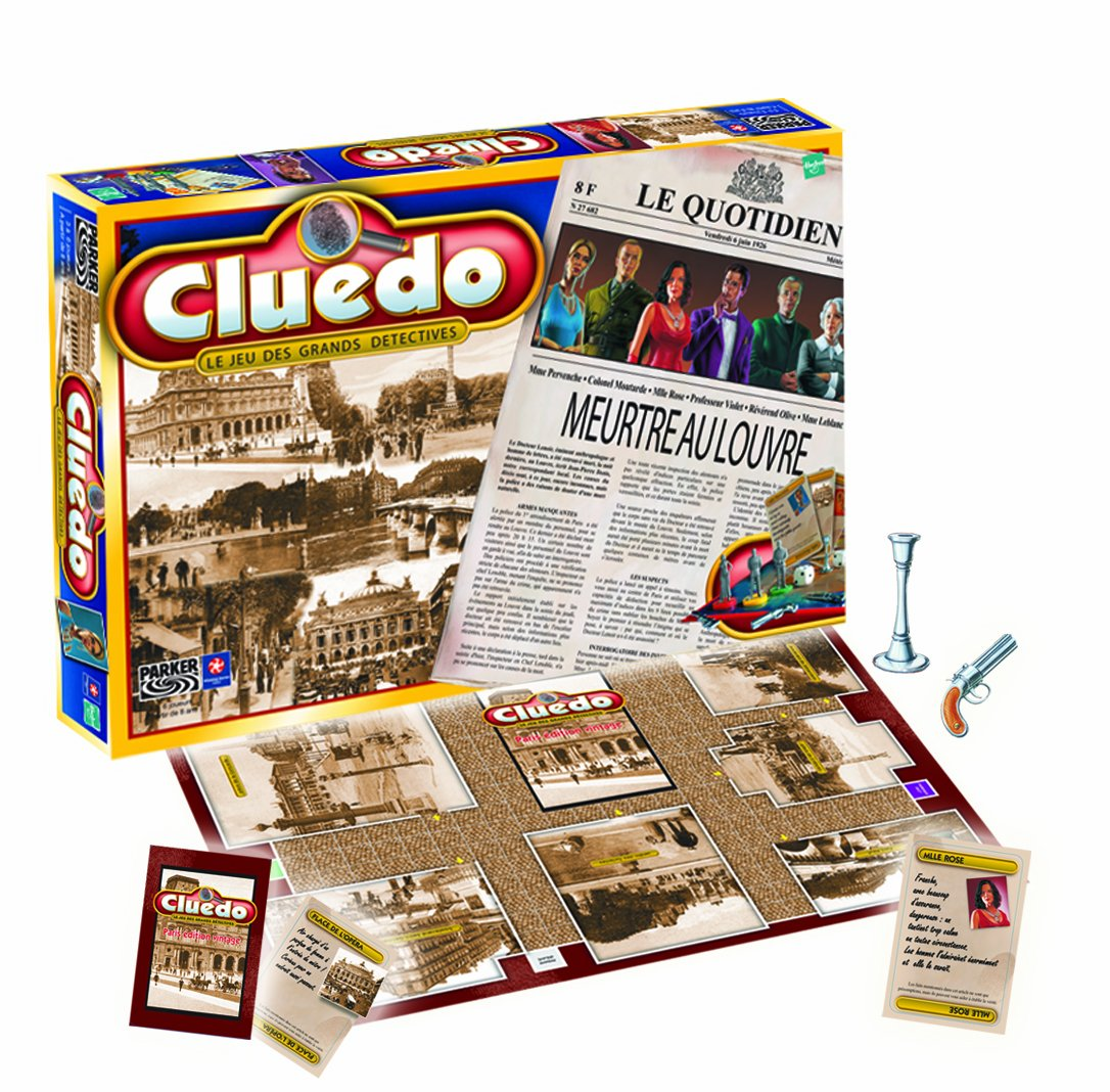Winning Moves Cluedo 0579 - Thinking Game - Murder at The Louvre (French Version)