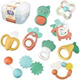 Baby Rattle Toys- 12PCS Baby Toys 6 to 12 Months Baby Rattles Shaker, Grab and Spin Early Educational Toys Teethers Toys for
