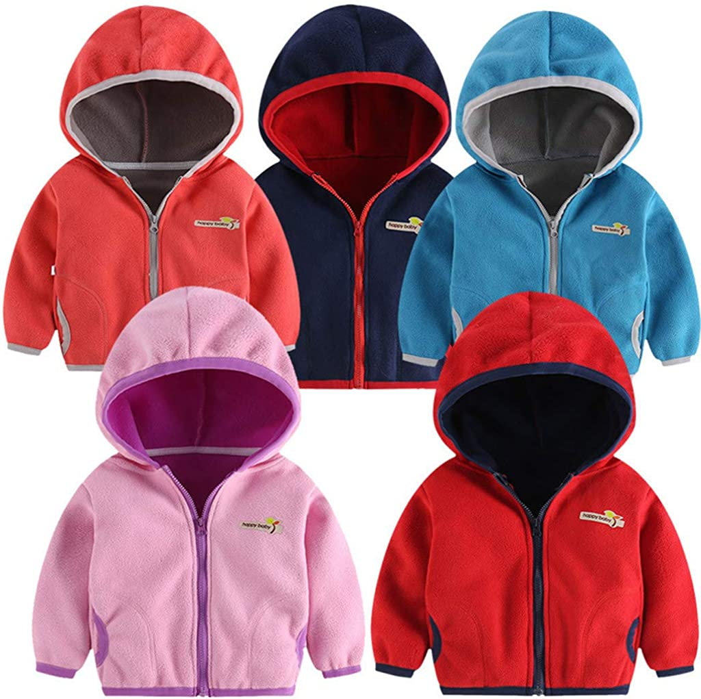 Baby Coat Toddler Kid Baby Boys Girl Hooded Letter Sweatshirt Wind Coat Jacket Outwear