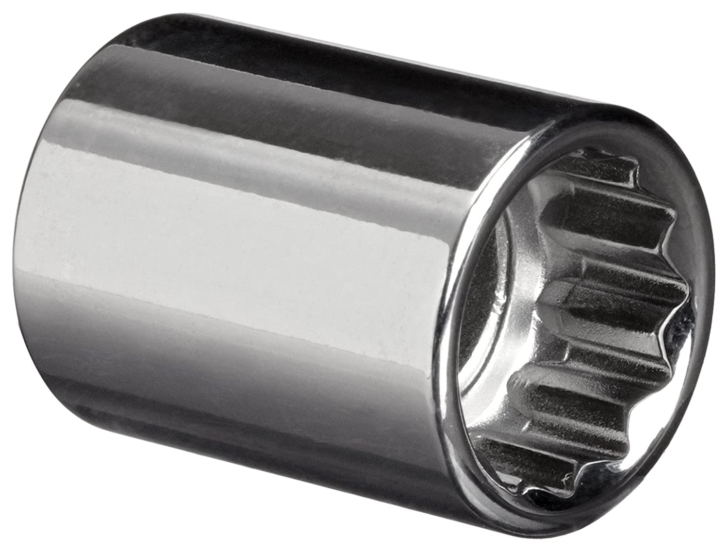 Chrome Finish 12 Points Standard Martin B1216 1//2 Type II Opening 3//8 Square Drive Socket 1-1//8 Overall Length