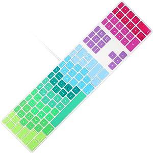 Allinside Rainbow Keyboard Cover for iMac Wired USB Keyboard