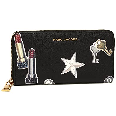 11e44f9eec44 マークジェイコブス 財布 MARC JACOBS M0012585 002 TOSSED CHARMS SAFFIANO STANDARD  CONTINENTAL WALLET レディース 長財布