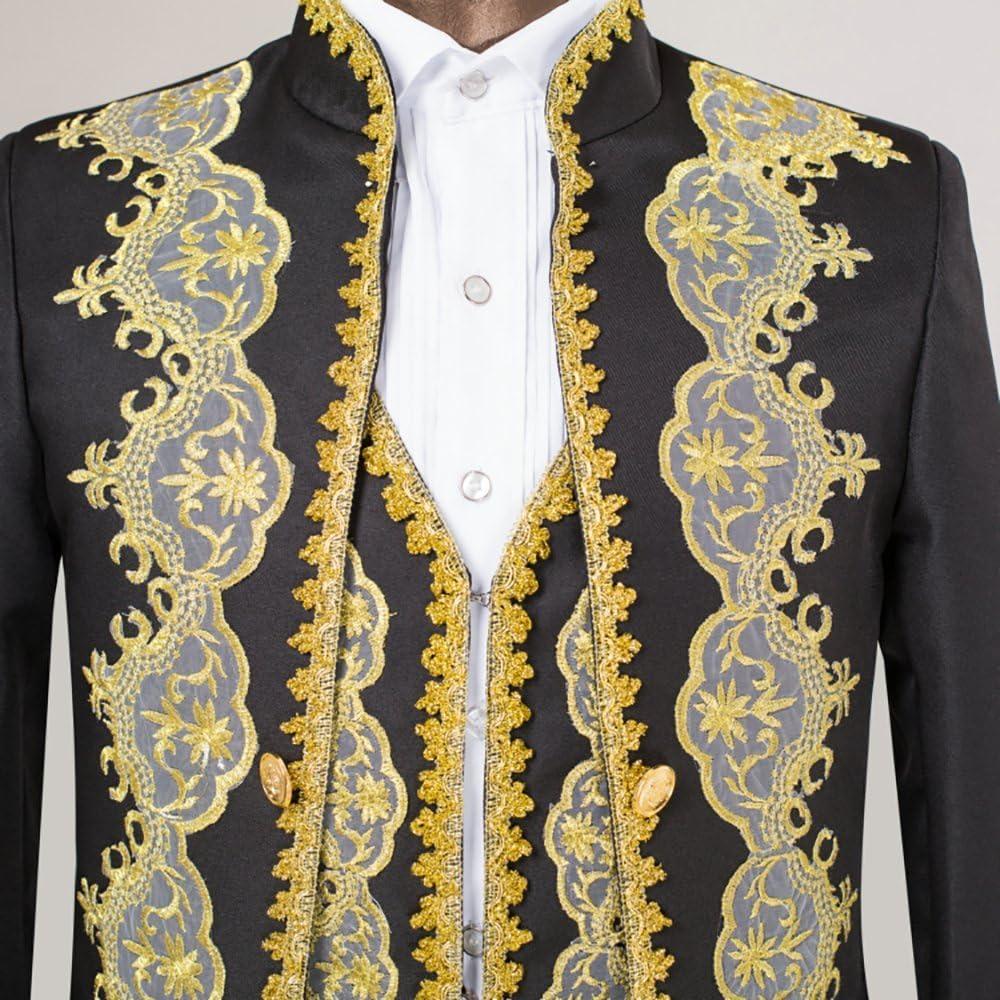 Mens 3 Piece Casual Dress Suit Slim Fit Stylish Blazer Coats Jackets /& Vest /& Trousers