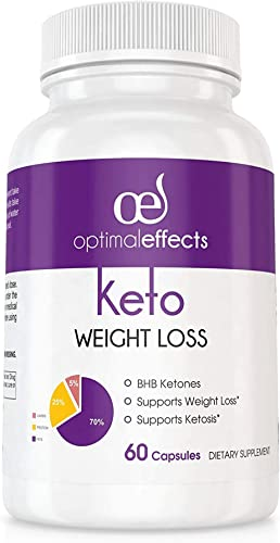 Keto Diet Capsules Exogenous Ketosis Supplement BHB Ketones Pills for Ketosis, Beta-Hydroxybutyrates Complex Improves Energy, Focus Weight Loss – Burn Fat Not Carbs – 60 Capsules