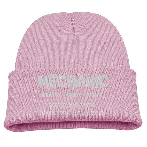 MECHANIC DEFINITION Fashion Beanie Hats Flat Brim Cool Knit Caps Warm For  Children  Amazon.ca  Clothing   Accessories d24b60e4cc9