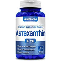 NASA BEAHAVA Astaxanthin 10mg - 180 Capsules Max Strength Astaxanthin Supplement 6 Month Supply Best Value