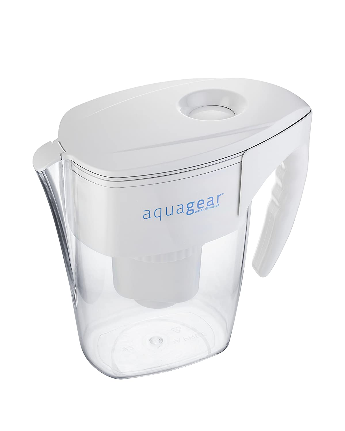 Amazon.com: Aquagear Water Filter Pitcher   Fluoride, Lead, Chloramine,  Chromium 6 Filter   BPA Free, Clear: Kitchen U0026 Dining