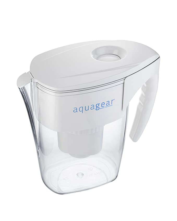 aquagear water filter pitcher - fluoride, lead, chloramine, chromium ...
